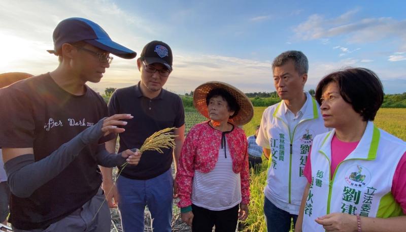 ▲農改場的研究員楊博士也說明確實遭遇損害所產生的不稔實情形。(圖/記者蘇榮泉攝,2020.06.02)