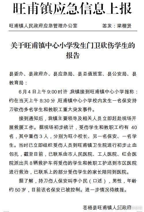 ▲廣西蒼梧縣旺甫鎮政府發布的公告。(圖/翻攝自微博)