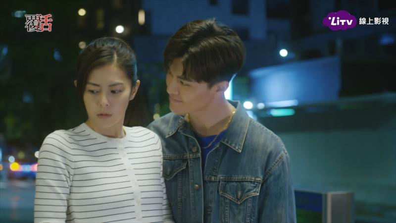 ▲吳承洋(右)在劇中想跟任容萱一夜情。(圖