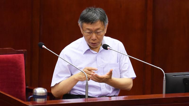 ▲台北市長柯文哲。(圖/記者陳明安攝,2020.6.4)