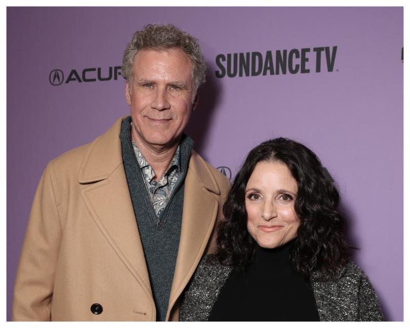 ▲威爾法洛(左)和茱莉亞路易斯德瑞福斯首度合作拍片。(圖/迪士尼)