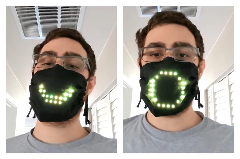 設計師自製「閃光口罩」 模樣曝光53萬人全震驚:太酷炫