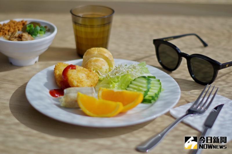 ▲ 2 樓 Cham bar 提供自助式早餐。(圖/記者陳致宇攝)