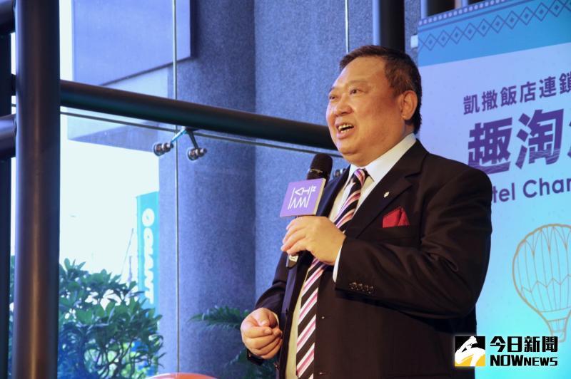 ▲凱撒飯店連鎖董事長林鴻道表示,在台東開飯店是他長久一來的夢想。(圖/記者陳致宇攝)