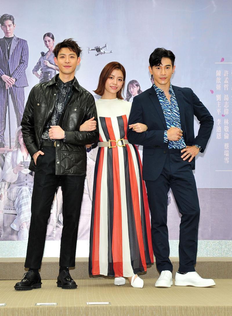 ▲連晨翔(左起)、宋芸樺、張立昂出席首映記者會。(圖