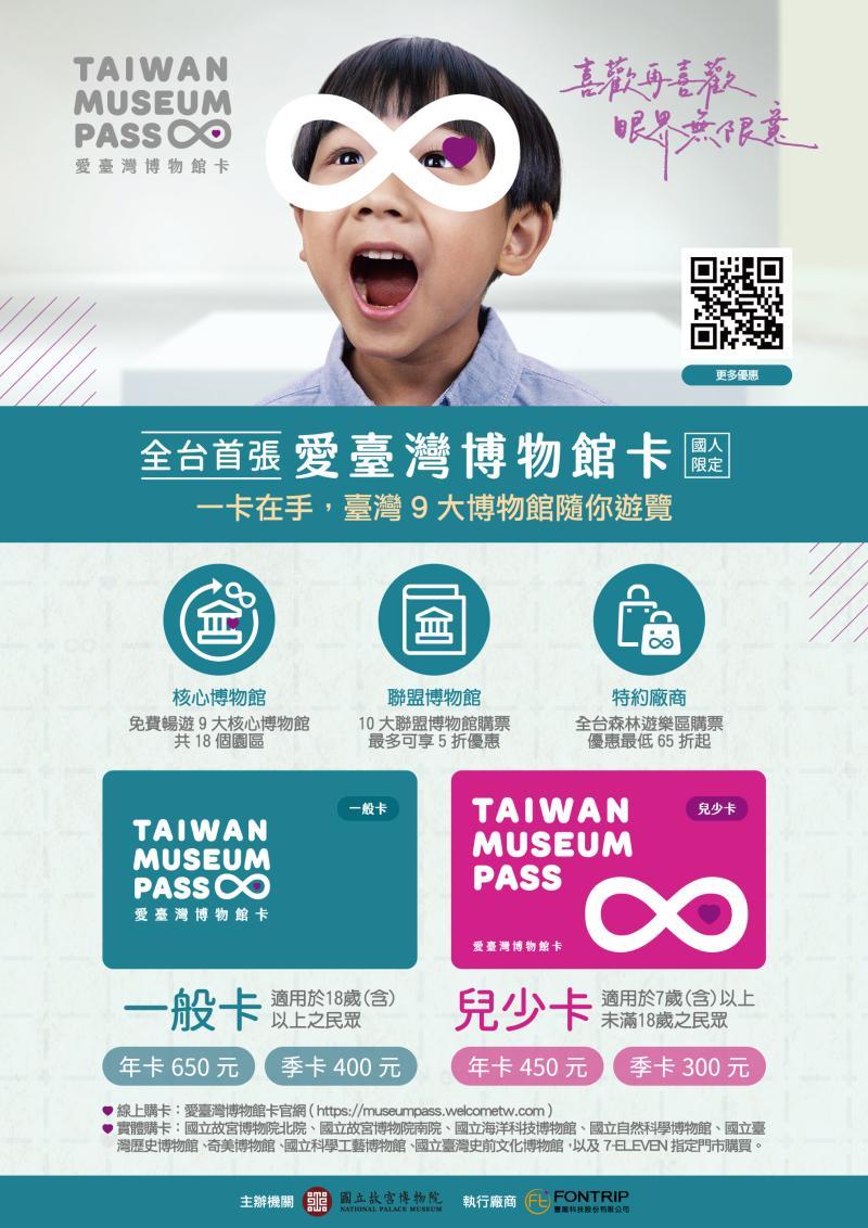 ▲「愛臺灣博物館卡」是全台唯一博物館卡。(圖/國立故宮博物院提供)