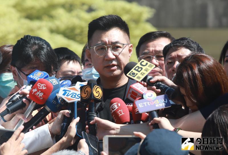 ▲國民黨內盛傳,黨主席江啟臣考慮親征2022桃園市長選舉。(資料照片/記者葉政勳攝)