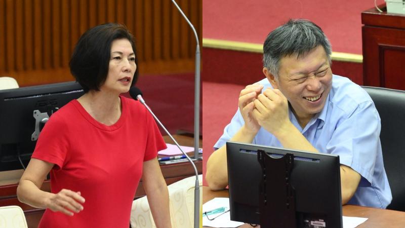 國民黨台北市議員汪志冰、台北市長柯文哲。
