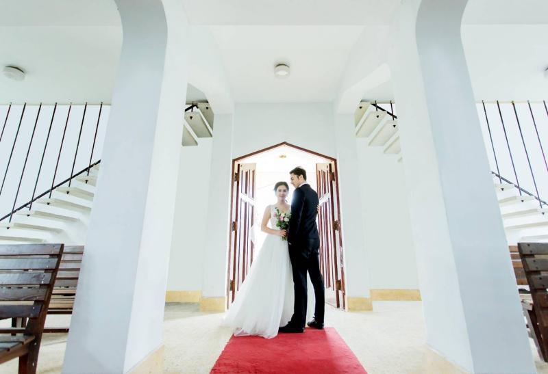 雲端上婚禮  最高教堂見證永恆愛情