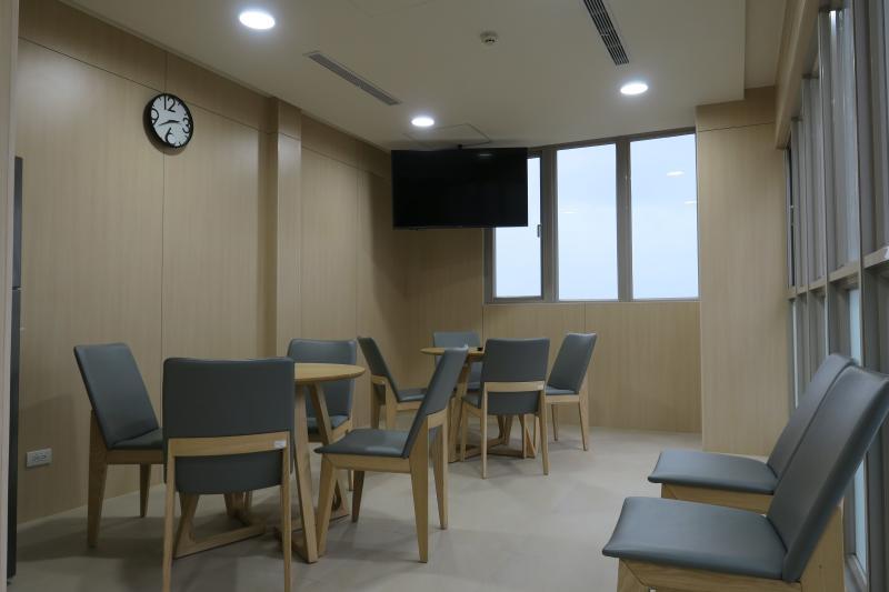 ▲國訓中心新宿舍,交誼廳(圖/國訓中心提供)