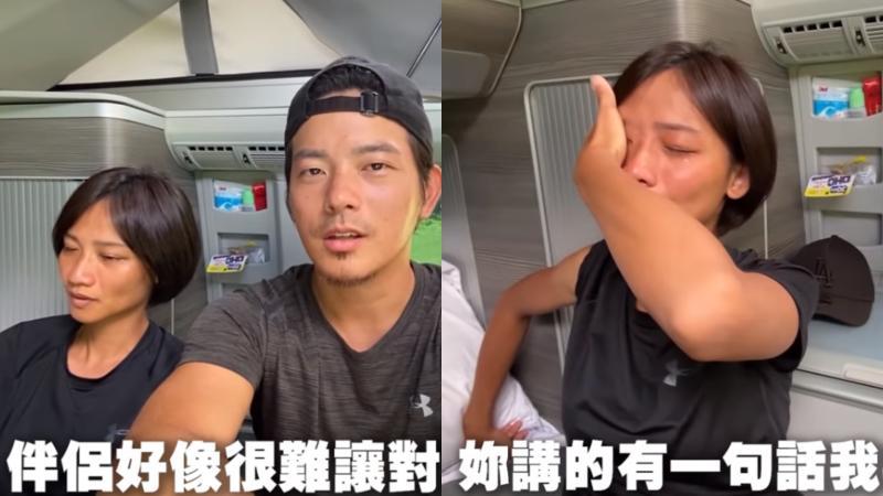 ▲宥勝要蕾媽嘗試騎沙灘車,沒想到,最後又把老婆弄哭。(圖/宥勝去哪兒YouTube)