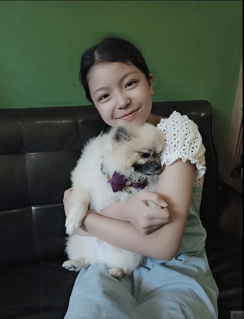 ▲張丞妘私下最愛的寵物是小狗。(圖/張丞妘臉書)