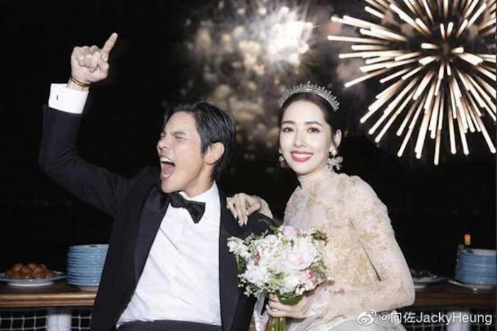 ▲郭碧婷和向佐在義大利舉辦世紀婚禮。(圖/向佐微博)