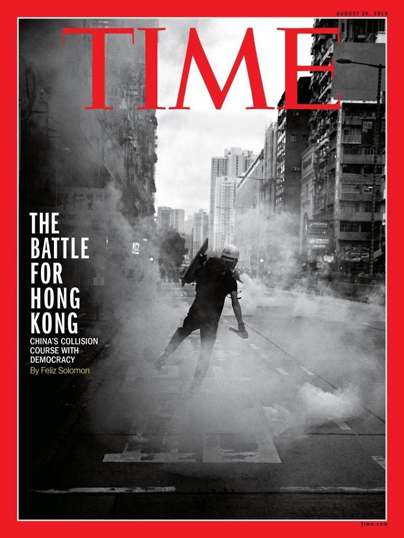 ▲香港示威登上《時代雜誌》封面。(圖/翻攝自