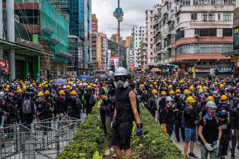 ▲去年香港爆發反送中示威運動,香港自治受到國際社會關注。(圖/翻攝自《紐約時報》)
