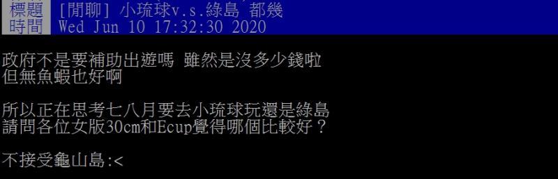 ▲網友好奇,小琉球和綠島該怎麼選擇呢?(圖/翻攝