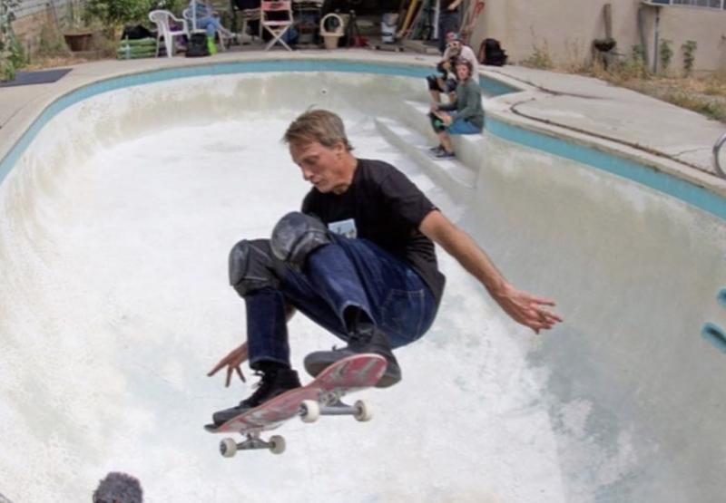 52歲的滑板傳奇Tony Hawk。(圖/美聯社/達志影像)