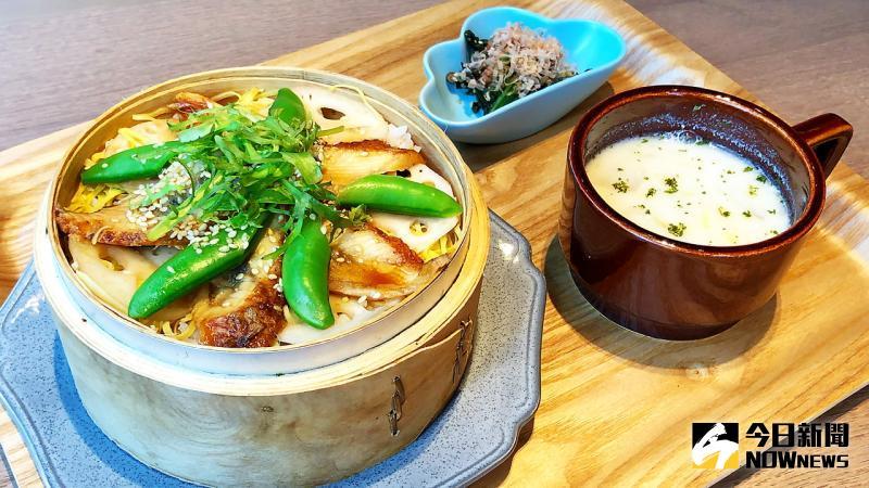▲「鰻魚蒸飯」創意原形來自日本傳統蒸壽司,口感層次分明,意猶未盡。(圖/記者陳美嘉攝)