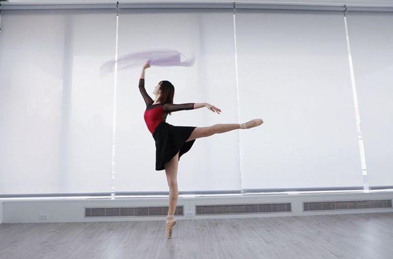 ▲姚思為從小學習芭蕾舞。(圖/翻攝自