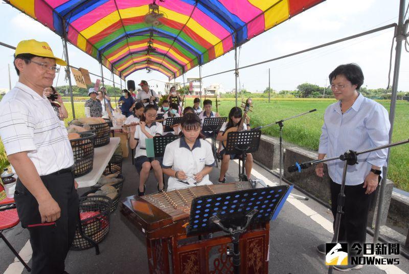 ▲埔心國中國樂團演奏增添土地的聲音風景。(圖/記者陳雅芳攝,2020.06.13)
