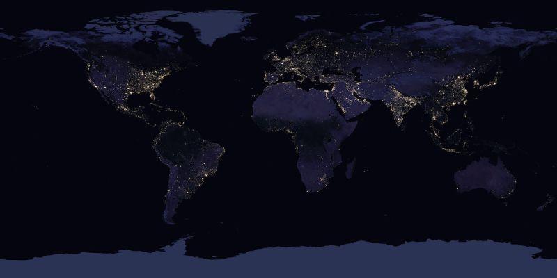 ▲ NASA 曝「地球夜景照」, 2 爆笑亮點眾人驚呼。(圖/翻攝自 NASA Goddard )