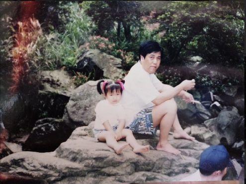 ▲陳韻喬小時候就喜歡和爸爸聽台語歌。(圖/猿聲提供)