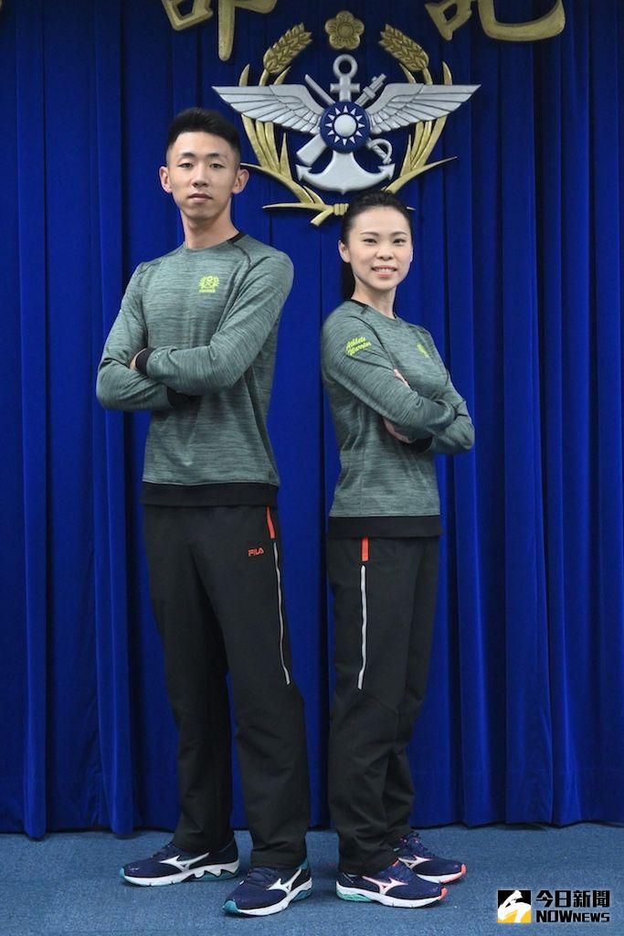 ▲陸軍發表研改之新式運動服。(圖/記者林柏年攝年.2020.06.16)