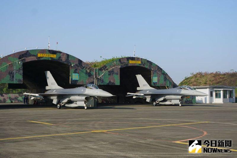 ▲空軍嘉義基地四聯隊F-16戰機。(圖/記者呂炯昌攝)
