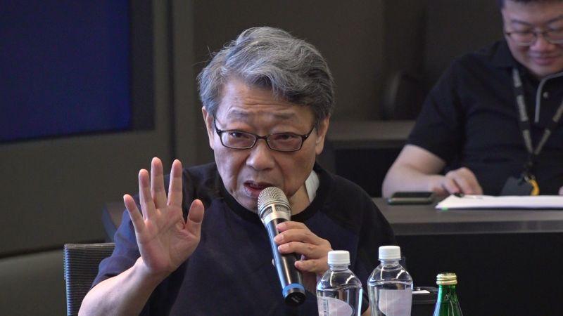 ▲長期關注國際與兩岸情勢的知名作家范疇認為,以往台灣自豪的產業鏈概念「以後可能要打6折」,但他也強調局勢創造機會。(圖/朱永強攝影)