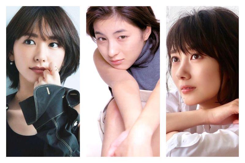 ▲網友討論「短髮更可愛的女明星」,引發大家熱議。(合成圖/翻攝自gakki_smile、波瑠、hirosue_ryoko_fan的IG)