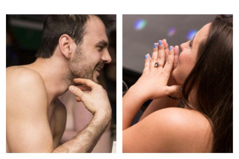 ▲「裸體約會」尋愛情?參與者揭破冰關鍵。(圖/翻攝自《 date in a dash 》)