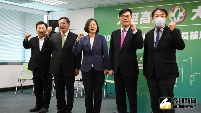 ▲陳其邁17日接受民進黨徵召投身高雄市長補選。(圖/記者林調遜攝)