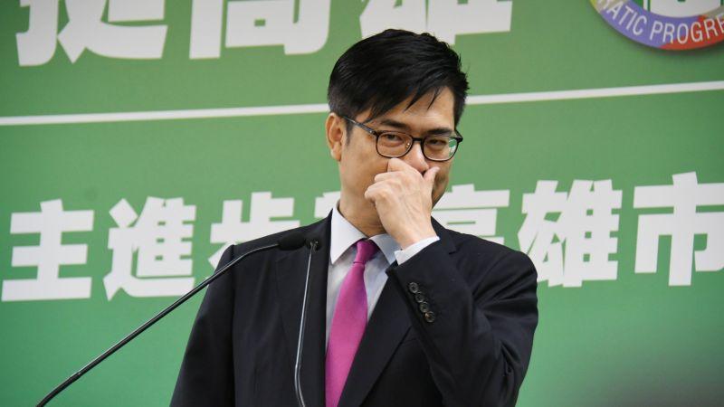 行政院副院長陳其邁接受民進黨徵召,參選高雄市長補選。