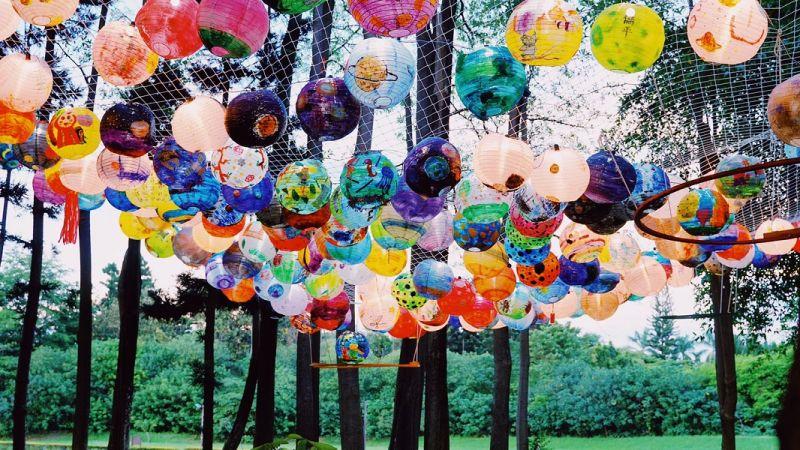 ▲結合天文的藝術創作,富教育意涵的呈現在北香湖公園。(圖/嘉義市政府提供)