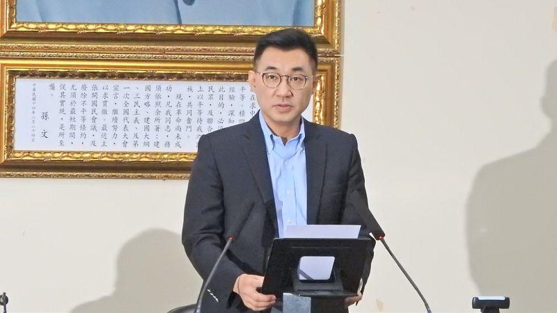 國民黨主席江啟臣。( 圖 / 記者陳弘志攝)