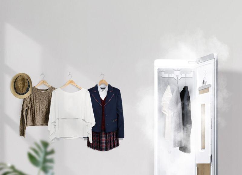 ▲穿回家的衣物如不是當日要清洗,只要把衣物掛進LG