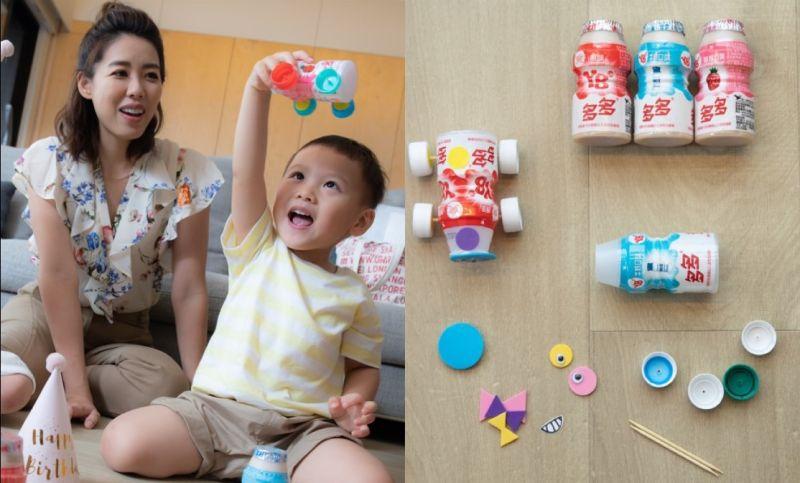 ▲親子DIY讓小孩們全心全意安靜半小時,玩具車完成後又滿場跑一起玩不停(圖/資料照片)