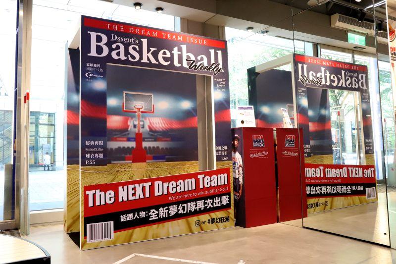 NBA專賣店裝置藝術 92年奧運夢幻隊狂潮再起!