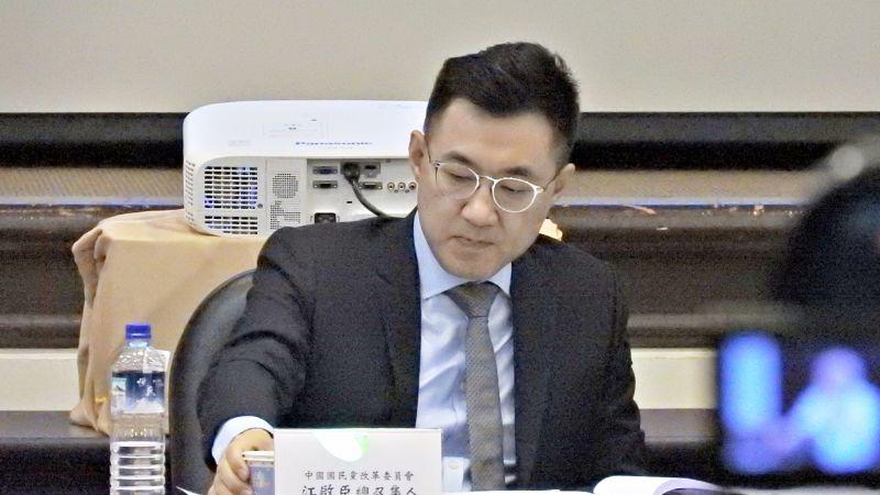 國民黨主席江啟臣出席19日的改革委員會會議。(圖 / 記者陳弘志攝)