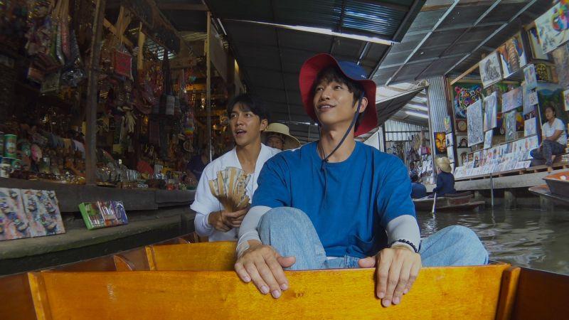 ▲▼李昇基(左)跟劉以豪一起旅遊。(圖/Netflix)