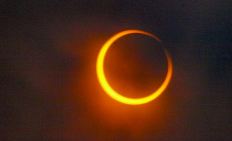 ▲百年難得一見的天文奇景日環食將於下午登場。(圖/取自pixabay)