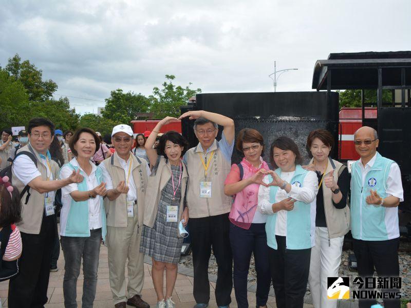 ▲市政團隊參觀阿里山森鐵車庫園區。(圖/記者郭政隆攝影2020.6.21)
