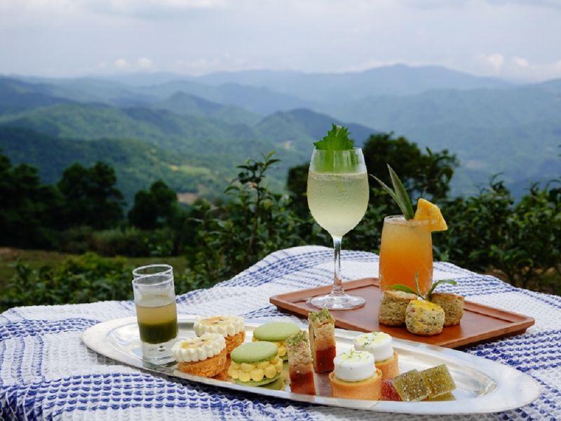 ▲新北好茶與台北凱撒大飯店合作推出的「幻夏茶饗曲」平日雙人下午茶套餐,首度將國產茶與法式甜點結合(圖/新北市府提供)