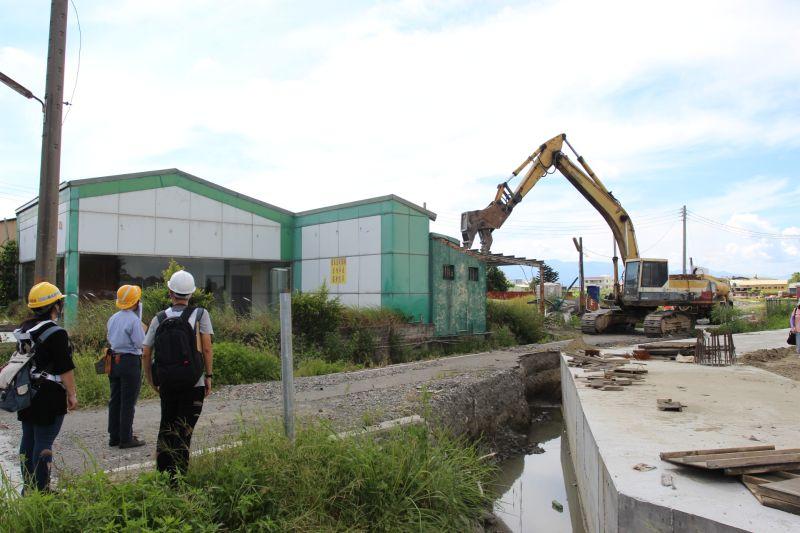 ▲斗南小東工業區重劃案地上物強制執行拆除。(圖/記者簡勇鵬攝,2020.06.22)