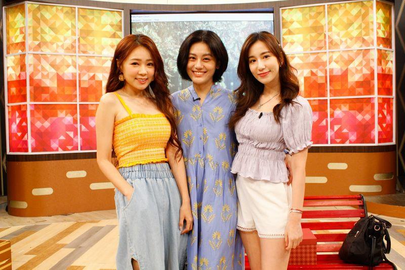 ▲Apple(左起)、小蠻、詹子晴是多年好友。(圖/衛視中文台提供)