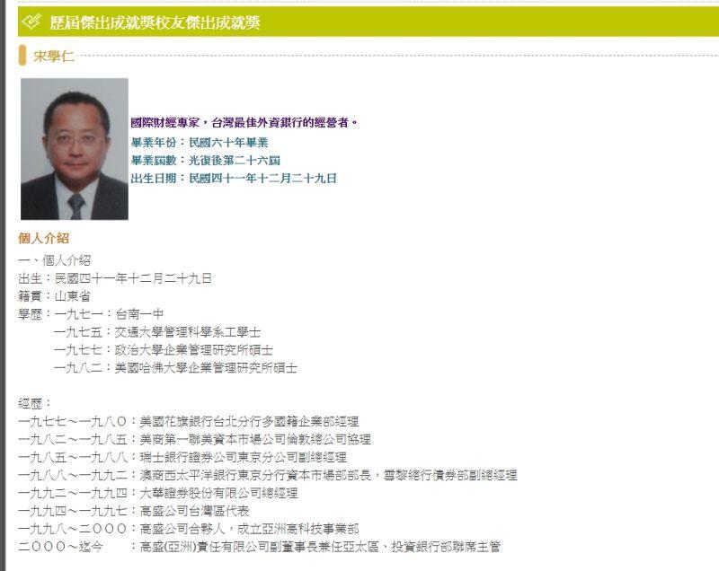 張清芳前夫宋學仁投資教父 與<b>張忠謀</b>、郭台銘關係友好