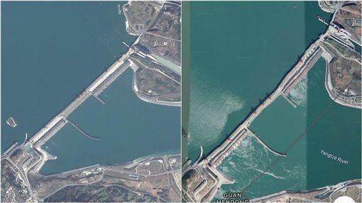 ▲三峽大壩每年變形潰堤的話題都引發熱議。(圖/翻攝推特)