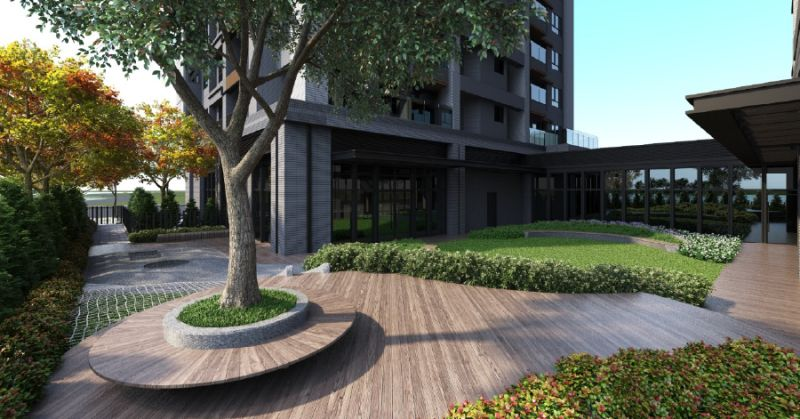 ▲遠雄房地產行銷協理蔡紫祺表示,該建案中庭裡種植大樹,人們圍繞大樹營造出「家」的氛圍。(圖/資料照片)