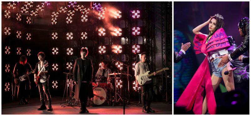 ▲五月天(左圖)獲得民眾最想看的線上演唱會第一名,蔡依林位居第二。(圖/相信音樂提供、凌時差提供)