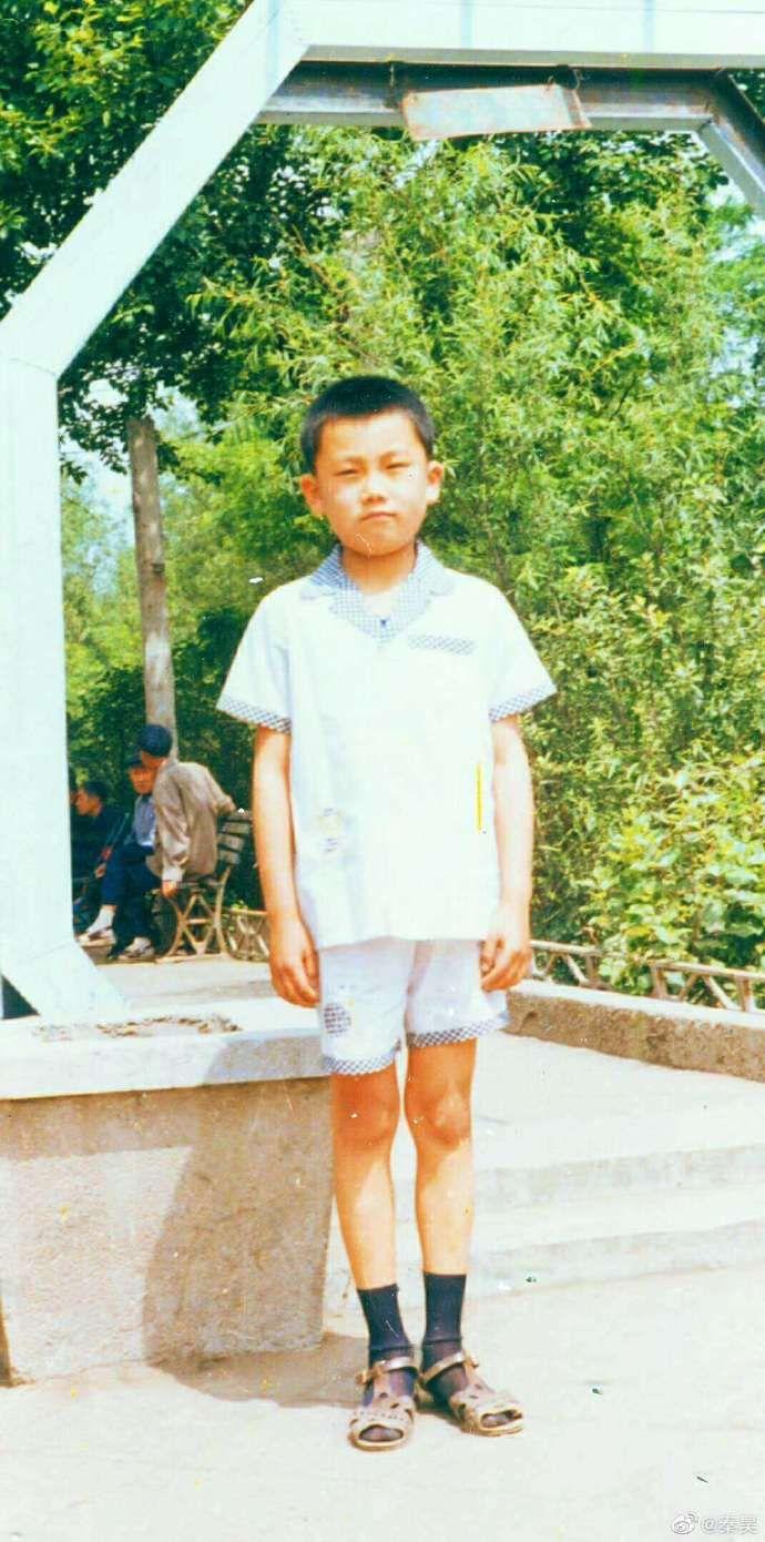 ▲秦昊9歲模樣。(圖/秦昊微博)